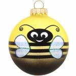 GLASS YELLOW BEE BALL