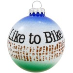 LIKE TO BIKE GLASS BALL