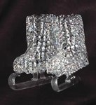SPUN GLASS ICE SKATES