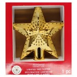 GOLD LIGHTED STAR TREE TOP