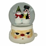 SNOW GLOBE SNOWMAN COUPLE