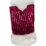 "18"" BURGANDY SEQUIN TREE SKIRT"