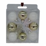 8 PC MINI ORNAMENT SET