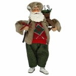 "11"" GOLFING SANTA TABLE TOP"