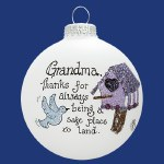 GRANDMA BIRDHOUSE GLASS BALL