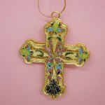 SMALL CROSS CLOISONNE