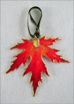 BURNT ORANGE SILVER MAPLE LEAF