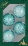WATER LILY SPA VELVET GLASS BALLS 4 PK