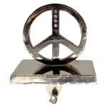 PEACE SIGN STOCKING HANGER