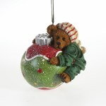 BOYDS BEAR ON CHRISTMAS BALL