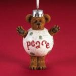 BOYDS BEAR PEACE BEAR ON BALL