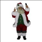 "10"" SANTA HOLDING CELL PHONE"