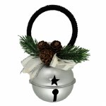 SILVER METAL CHRISTMAS BELL