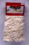 "48""  WHITE FAUX FUR TREE SKIRT"