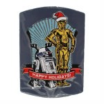 STARWARS MAGNET HAPPY HOLIDAYS