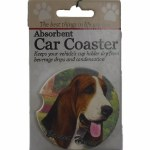 BASSET HOUND CAR COASTER