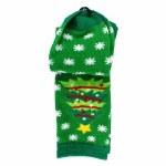 GREEN CHRISTMAS TREE SOCKS