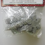 12 PACK SILVER SNOWFLAKES