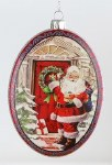 GLASS SANTA DISC