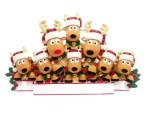REINDEER FAMILY OF 8 TABLE TO