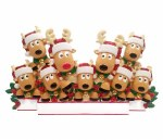 REINDEER FAMILY OF 9 TABLE TO