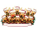 REINDEER FAMILY OF 11 TABLE TO