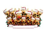 REINDEER FAMILY OF 12 TABLE TO