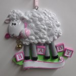 BABY LAMB IN PINK  FOR A GIRL