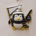 #1 FAN PENGUIN IN YELLOW AND BLACK