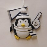 #1 FAN PENGUIN IN BLACK AND WHITE