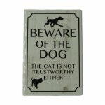 BEWARE OF THE DOG MAGNET