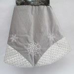 """48"""" SILVER TREE SKIRT WITH SNOWFLAKES"""