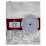 "48"" WHITE VELVET TREE SKIRT"