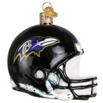 BALTIMORE RAVENS TEAM HELMET GLASS