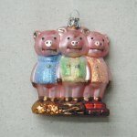 3 LITTLE PIGS GLASS
