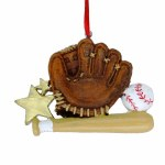 BASEBALL GLOVE BALL AND BAT