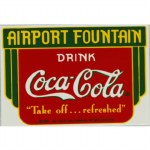 DRINK COCA COLA AIRPORT FOUNTAIN MAGNET