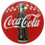 COCA COLA BOTTLE ON DISC