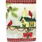 CHRISTMAS IN THE GARDEN FLAG
