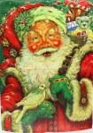 MERRY FATHER CHRISTMAS FLAG