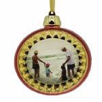 CHRISTMAS BALL PICTURE FRAME