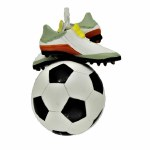 SOCCER BALL W ITH CLEATS