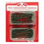 100 GREEN ORNAMENT HOOKS