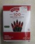 100 CT RED MINI LIGHT SET
