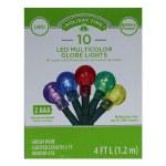 10 CT BO LED GLOBE LIGHTS