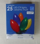 25 CT C9 CERAMIC LED LIGHTS MULTI COLORED