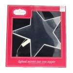 LIGHTED MIRROR STAR TREE TOP