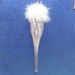 PINK GLASS TEARDROP BALL
