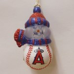 BASEBALL ANGEL ACRYLIC SNOWMAN