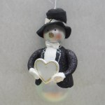 GLASS SNOWMAN GROOM